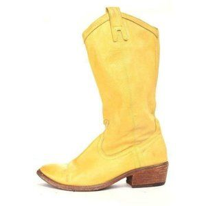 Frye Yellow Carson Pull on Boots